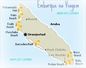 Mapa Aruba Embarque na Viagem