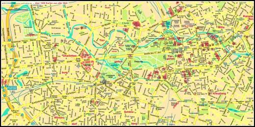 Mapa Berlim Embarque na Viagem