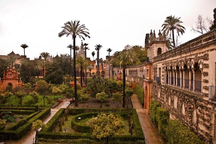 O Alcázar de Sevilha, Andaluzia, Espanha