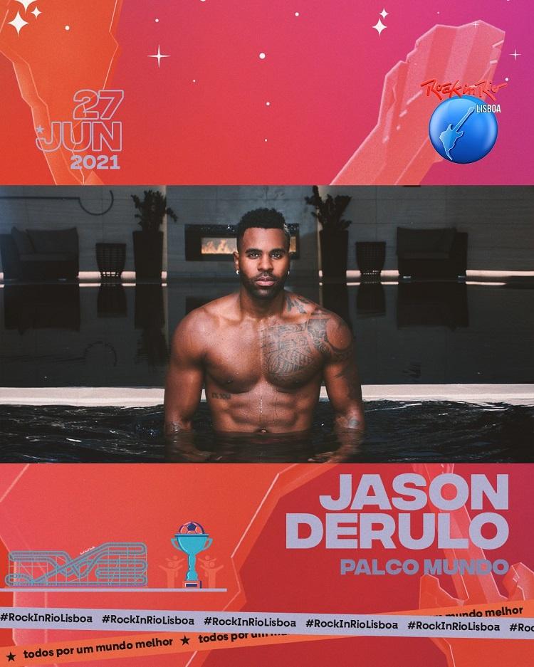 Rock in Rio Lisboa anuncia Jason Derulo