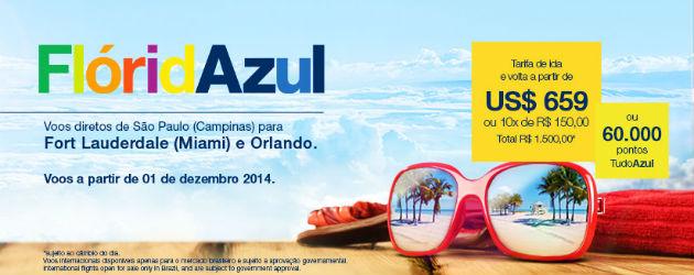 Azul começa a vender passagens para Orlando e Fort Lauderdale 3