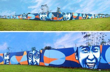 Aeroporto de Joinville: Colorido de grafite distribui sorrisos 10