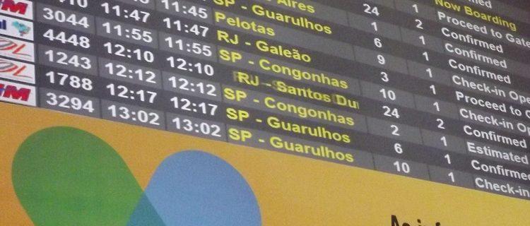 Aeroportos - tarifas de embarque serão reajustadas em 1º de janeiro 2